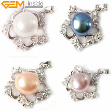 Pretty Pearl Rhinestone White Gold Plated Flower Jewelry Pendant Necklace Gift