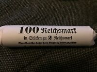 50 x 2 Mark 1936 to 1939 Third Reich Silver Nazi Germany in a roll