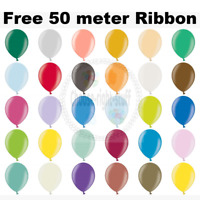 "10-100 PCS HELIUM Pearlised Latex Balloons 12"" Wedding Birthday Party Theme"