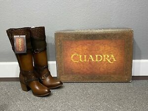 2Q1ONT Women boots made by Cuadra Knee High Leather Boots BEAUTIFUL Worn Once