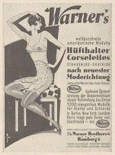Y6795 WARNER'S Hufthalter Corselettes -  Pubblicità d'epoca - 1929 Old advert