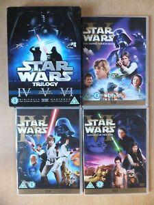 ✅  STAR WARS TRILOGY REGION 2 DVD's  -6-DISC SET WIDESCREEN HAN SHOOTS 1ST RARE