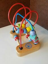 ** GARANIMALS ** Abacus Travel Wood Bead Maze Counting Educational Toy **
