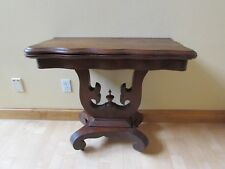 Antique Empire 1830's Lyre Base Console & Game Table Flip & Swivel Top Mahogany