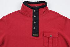 Men's POLO RALPH LAUREN Red Black Pullover Jersey Sweatshirt Large L NWT NEW