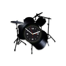 Drums Vinyl Record Wall Clock Room Decor Rock Melody Gift For Children