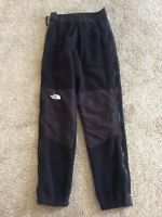 The North Face Vintage Denali Black Fleece Pant Snow Ski Outdoor Men Small EUC
