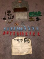1972 Marx Sears Sons of Liberty Playset 50 Part Lot w Tavern, 22 Soldiers Ex