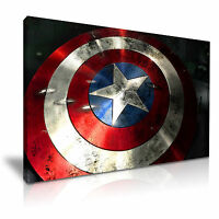 Captain of America Movie Abstract Art Canvas Print Framed Wall Art More Sizes