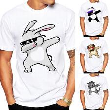 Fashion Mens' Cartoon Printed Lovers' T-shirts Short Sleeve Tee Shirt Plus Size