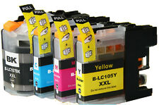2 Sets+2 Extra Black of Brother LC-107 LC-105 for MFC-J4310 J4410 J4610 J4710DW