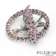 Freshwater Pearl Bird New 9672 Pilgrim Brooch Genuine Pink Crystals Pin