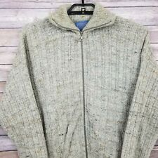 VTG PENDLETON Pure Virgin Wool Nordic Norwegian Full-Zip Speckle Sweater L USA