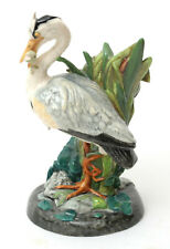 Minton In Miniature Ltd Edition Majolica Heron Figurine (Made In England)