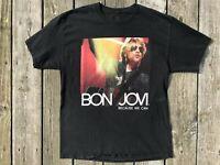 BON JOVI Concert T-Shirt 2013 North American Tour Because We Can Black Large