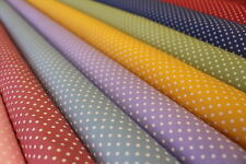 100% COTTON PRINT FABRIC - 3 mm WHITE POLKA DOTS (PIN SPOTS) - Rose and Hubble