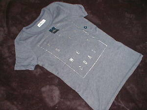 NWT!  HOLLISTER S GREY Tee shirt  HOLLISTER w/ Silver Lettering