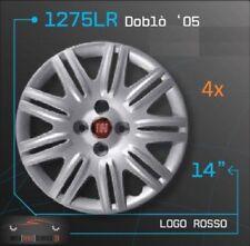 4x Radkappen Radkappensatz 14 Zoll Felgen Fiat Doblo 05 Rot Logo