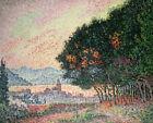 Forest Near St Tropez Paul Signac French Landscape Print Canvas Home Decor Small