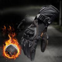 Motorcycle Gloves Waterproof/Windproof Winter Warm Carbon Fiber Full Finger Ride