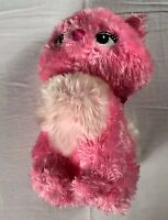 "Disney Store Marie Plush Pretty Pink 11"" Stuffed Cat Cinderella Stamped Patch"
