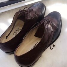 Oxford Enzo Angiolini Dress Leather Shoes Brown Black 6,5 M NWOT Step Women