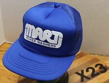 NWOT VINTAGE MART POWER WASHERS TRUCKERS HAT BLUE SNAPBACK NEVER WORN X23