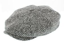 Stetson Men's Hatteras Tweed Bakerboy Cap Herringbone/Wool/Gatsby (6840502)