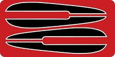 1972 FX FXE BLACK Tank decal with WHITE trim 72 71 FL FLH for AMF Harley