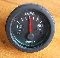 60amp  AMMETER, centre zero vehicle, boat, etc illuminated dial         V210948