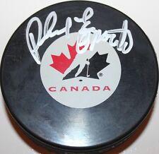 Phil Esposito signed Team Canada Puck w/ case COA