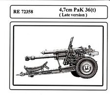 Attack RE72358 1/72 WWII German 47mm Pak 36(t) Antitank Gun