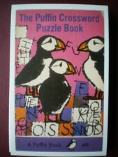 POSTCARD ADVERT PUFFIN BOOK COVER - CROSSWORD PUZZLE BOOK
