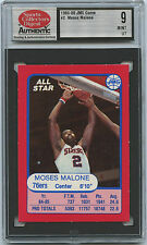 1985-86 JMS 76ers Match-Up Game MOSES MALONE & ANDREW TONEY both SCD 9 MINT UT
