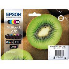 Epson 202 Claria Premium Printer Inkjet Cartridges - 5 Pack (C13T02E74010)