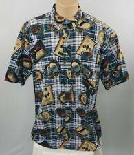 TOMMY HILFIGER Mens Golf Print Short Sleeve Button Up Dress Shirt Size XL