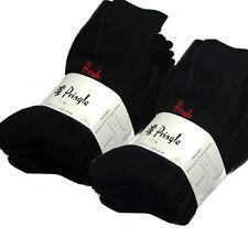 Pringle Mens Trouser Every Day Socks All Black 16 Pairs UK 7-11 EUR 40-46
