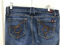 HUGE MARKDOWN!! Hot Kiss Passion Women's Bold Look Blue Jeans Size 11 / 30 LONG