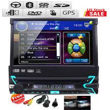 "2DIN 7"" Touchscreen Single 1 Din Stereo Car DVD Player Auto Radio GPS Nav Camera"