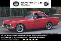 Sunbeam Alpine/Tiger 15x6 4x108PCD Era Correct Alloy wheel GC360 Silverstone II