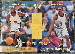 1996 Upper Deck USA Olympicard Michael Jordan Anfernee Basketball Card #134