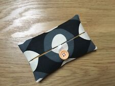 HANDMADE PACKET TISSUE HOLDER MADE WITH ORLA KIELY COOL GREY OVAL FLOWER FABRIC
