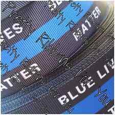 "Blue Lives Matter 7/8"" WHOLESALE grosgrain ribbon 50 yards listing"