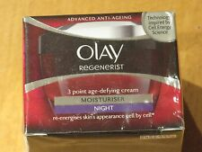 OLAY REGENERIST 3 POINT SUPER AGE DEFYING CREAM MOISTURISER NIGHT 50ml NEW/BOXED