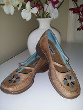 Steve Madden P-Pluto Brown Leather Mary Jane Shoes Sz. 7,5 B Brazil