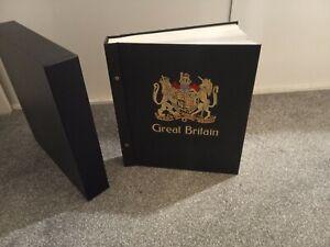 STANLEY GIBBONS GREAT BRITAIN VOL.1 HESSIAN 2 PEG STAMP ALBUM 1840 - 1989