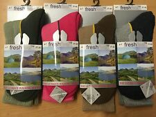 3 Pairs Womens Ultimate Walking Socks By FRESHFEEL Size 4-7 Hiking Boot Work New