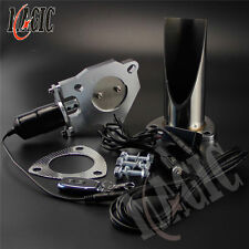 "2.25"" Inch 57mm Electric Exhaust Cutout Remote Control Cut Pipe Stainless System"