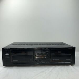 KENWOOD Stereo Double Cassette Deck Player KX-68W