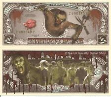 Zombie Apocalypse un million Dollar Bills X 2 MORTS-VIVANTS Monstres